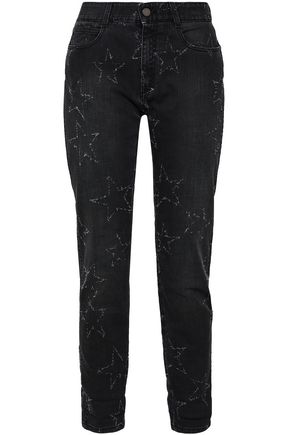 4073d15f07121 STELLA McCARTNEY Distressed mid-rise straight-leg jeans