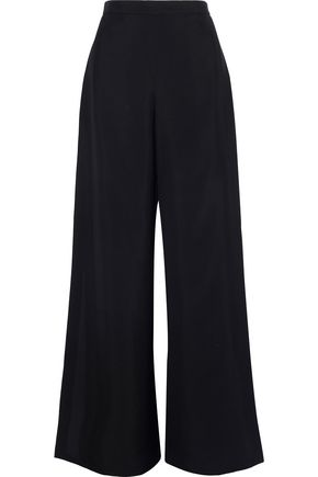 ROSETTA GETTY Layered crepe wide-leg pants
