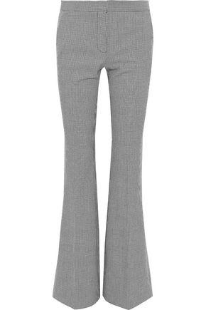 TIBI Hudson houndstooth jacquard bootcut pants