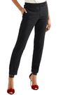 TOM FORD Satin-trimmed crepe tapered pants