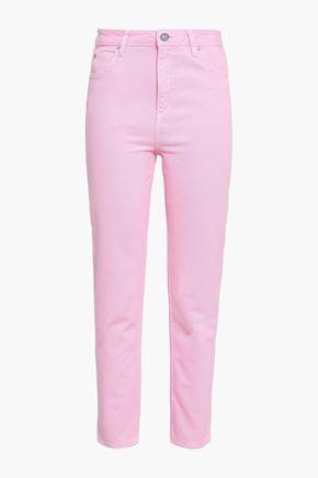 SANDRO High-rise slim-leg jeans