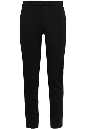 DONNA KARAN Cropped ponte slim-leg pants