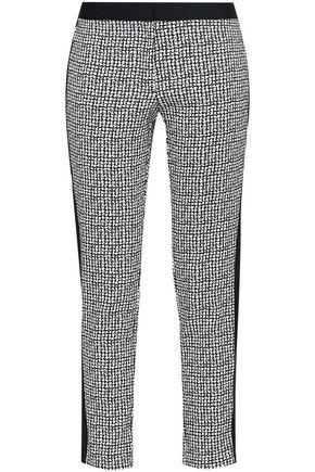 DKNY Cropped jacquard-knit slim-leg pants