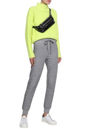 WILDFOX Mélange fleece track pants