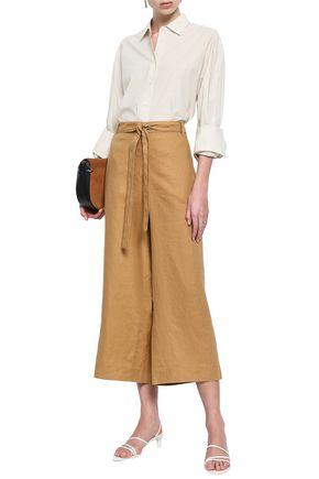 DONNA KARAN Linen culottes