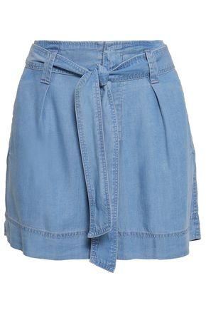 DKNY Belted chambray shorts