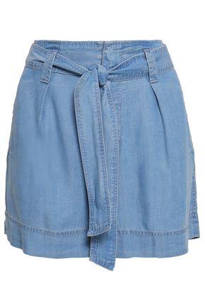 DKNY Belted chambray shorts