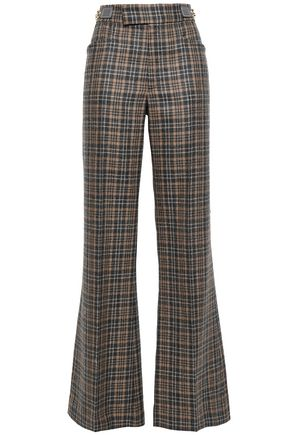 MARC JACOBS Checked wool-blend flared pants