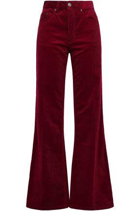 MARC JACOBS Appliquéd cotton-corduroy flared pants