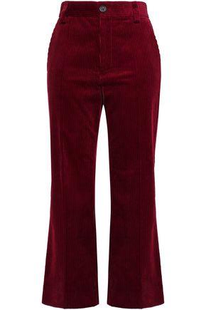 MARC JACOBS Cropped corduroy straight-leg pants