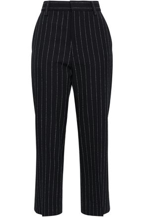 MARC JACOBS Pinstriped wool-blend bootcut pants