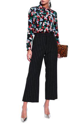 MARC JACOBS Pinstriped wool-blend bootcut pants