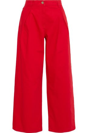 822eaaba01b JUST IN. +. VALENTINO Pleated high-rise wide-leg jeans