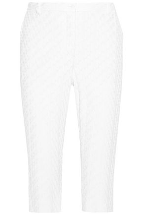 MISSONI Cropped crochet-knit skinny pants