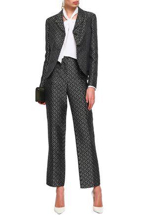 VALENTINO Silk-jacquard straight-leg pants