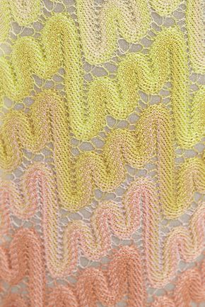 MISSONI Dégradé crochet-knit slim-leg pants
