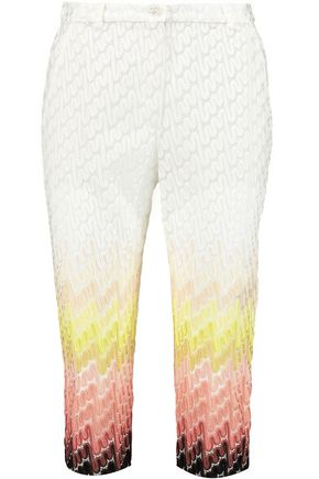 MISSONI Dégradé crochet-knit slim-leg pants
