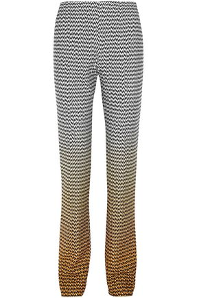 MISSONI Dégradé crochet-knit straight-leg pants