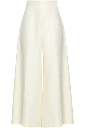 VALENTINO Silk-shantung culottes