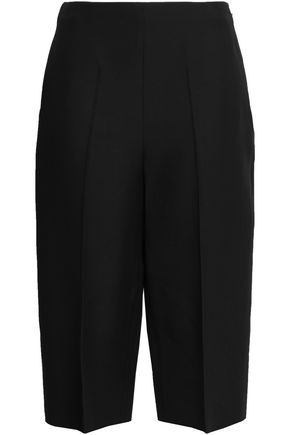 VALENTINO Cropped wool and silk-blend straight-leg pants