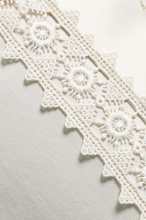 ZIMMERMANN Crochet-trimmed cotton wide-leg pants