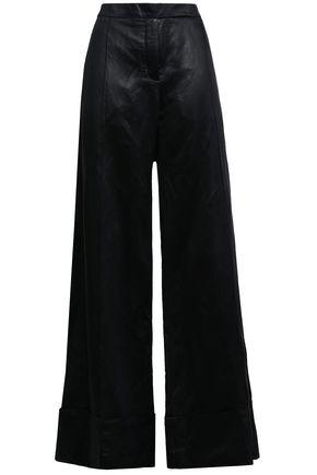 NINA RICCI Coated woven wide-leg pants