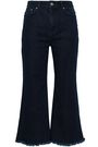 ZIMMERMANN Frayed high-rise kick-flare jeans