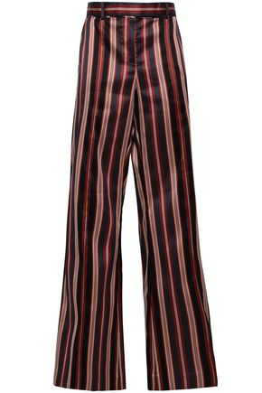 ZIMMERMANN Striped cotton-blend sateen bootcut pants