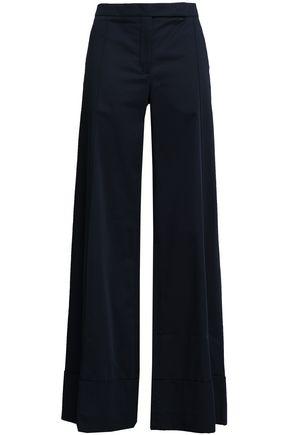NINA RICCI Cotton-blend wide-leg pants