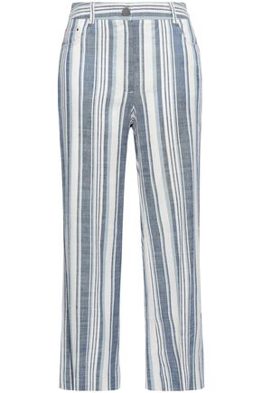 ZIMMERMANN Helm striped linen-blend straight-leg pants