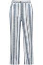 ZIMMERMANN Helm striped linen-blend straight-leg pants