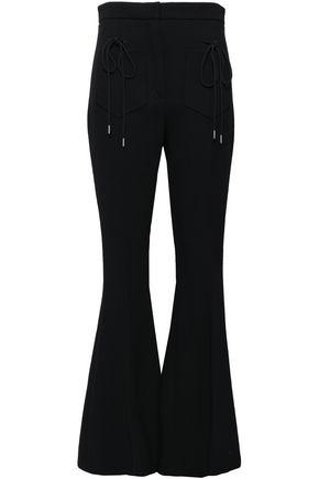 NINA RICCI Wool-blend crepe flared pants