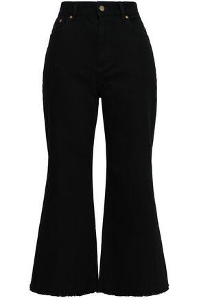 ZIMMERMANN Frayed high-rise kick-flare jeans
