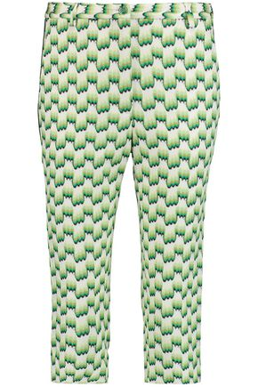 MISSONI Cropped crochet-knit slim-leg pants