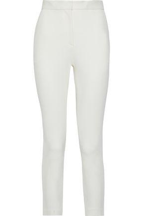 ROSETTA GETTY Cropped stretch-cady skinny pants