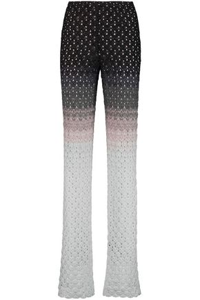 MISSONI Dégradé crochet-knit wide-leg pants