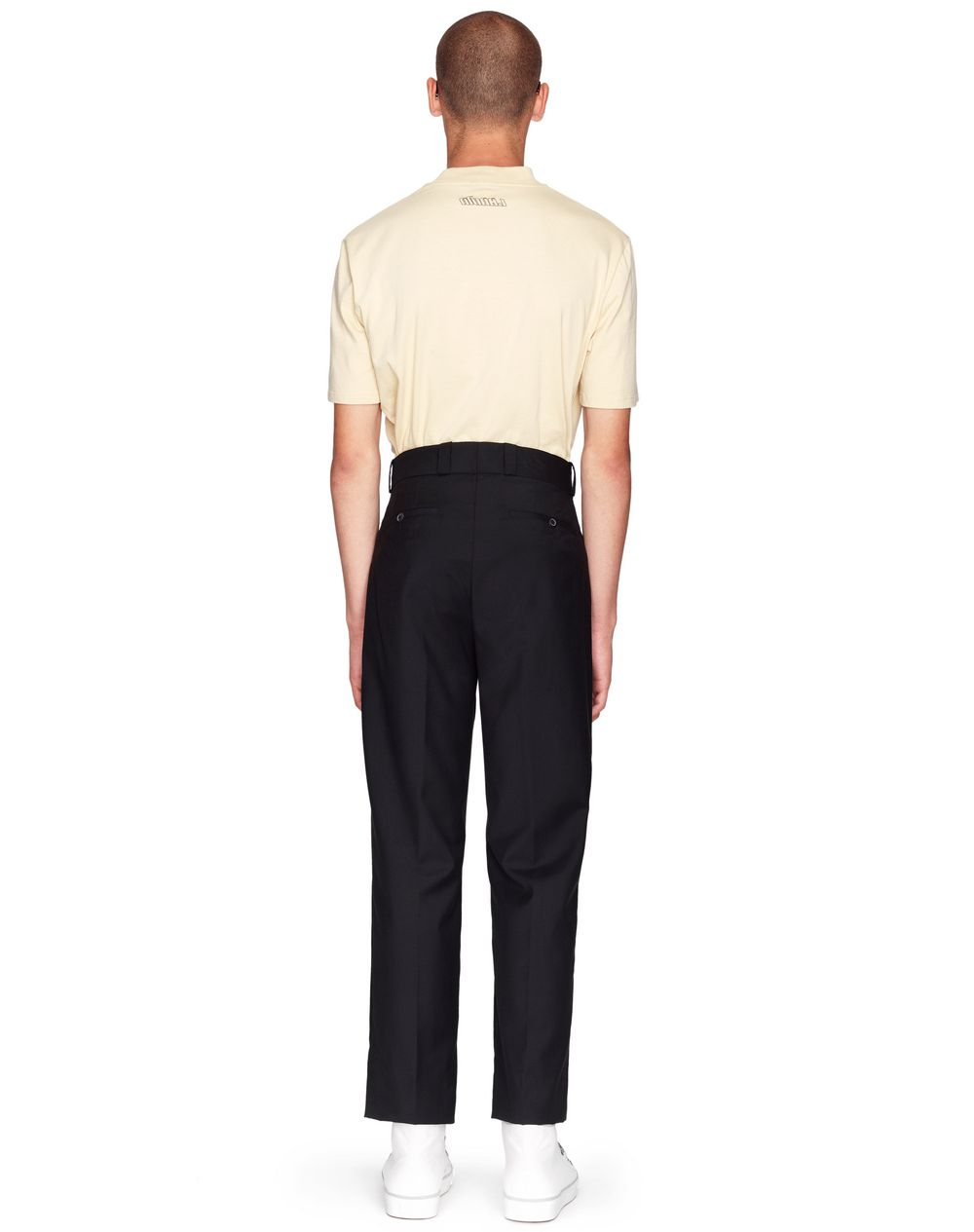 FITTED BLACK WOOL PANTS   - Lanvin
