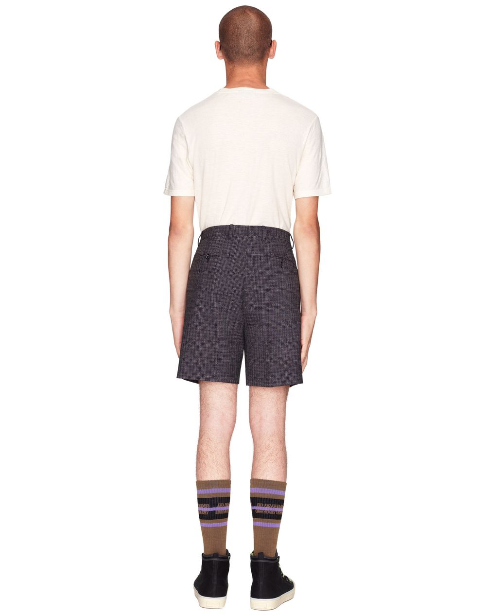 TAILORED TWEED SHORTS    - Lanvin