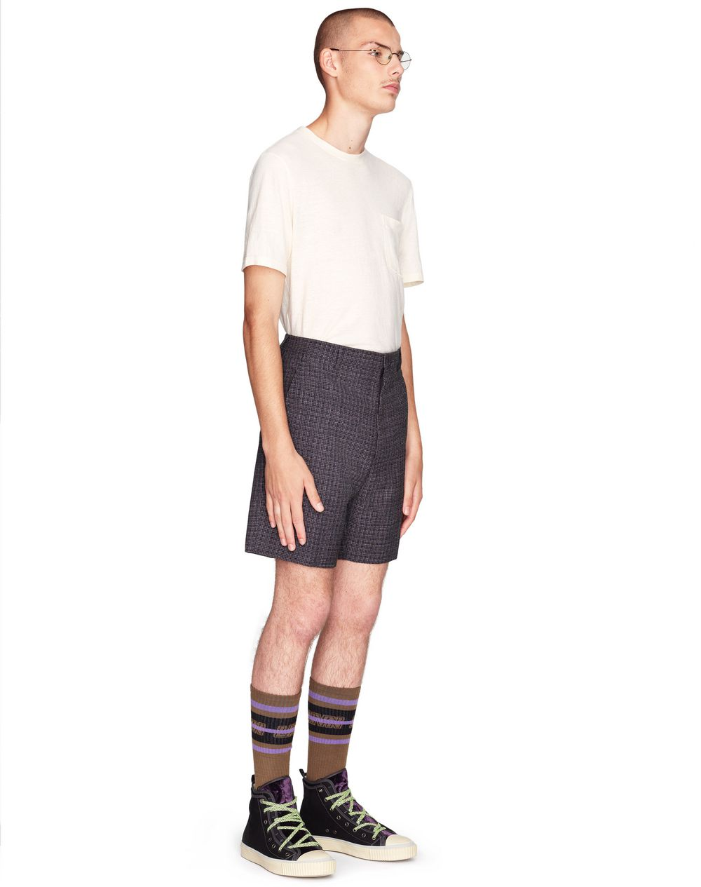 SHORTS SARTORIALI IN TWEED    - Lanvin