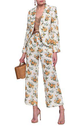 96cf8b2218c8e ZIMMERMANN Tangerine Vine belted floral-print linen flared pants