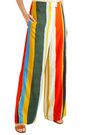 TORY BURCH Striped twill wide-leg pants