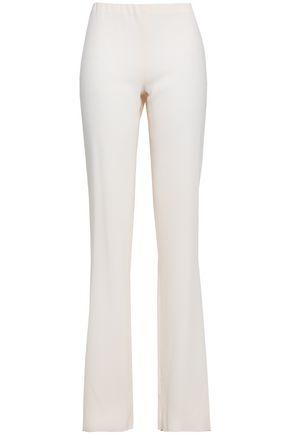 VALENTINO Wool-crepe slim-leg pants