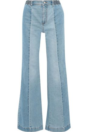 STELLA McCARTNEY Kendal paneled high-rise flared jeans