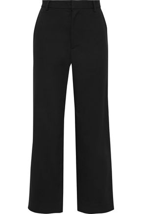 TOME Cropped stretch-cotton straight-leg pants
