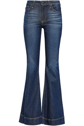 ALICE + OLIVIA Cosmic Dancer faded mid-rise flared jeans