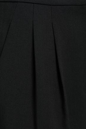 TIBI Grosgrain-trimmed crepe culottes