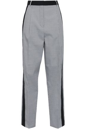 TIBI Houndstooth woven straight-leg pants