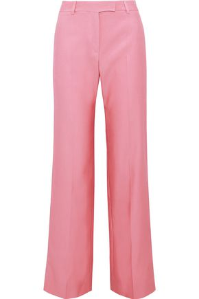 VALENTINO Cotton-blend twill wide-leg pants