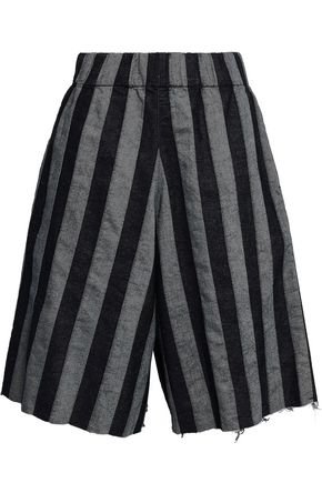 MARQUES' ALMEIDA Striped denim shorts