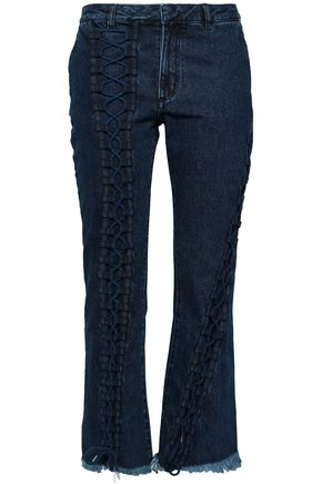 MARQUES' ALMEIDA Lace-up mid-rise kick-flare jeans